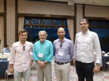 Mladen Banovic, Orest Mykhasiv, Salvatore Auriemma and CAD Exhibition Conference organiser Prof. Dr. Les A. Piegl.